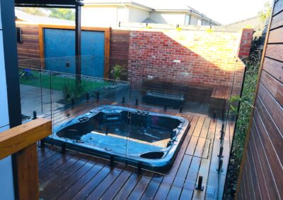 Outdoor Spa Area Landscaping