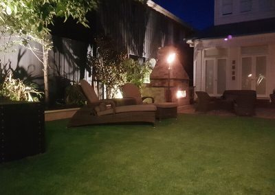 Garden Lighting And Planter Boxes